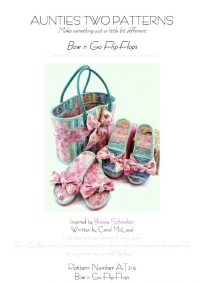 a9fa848c4 Celebrating sewists   crafters Everywhere. Aunties Two Patterns – Bow n Go  FlipFlops