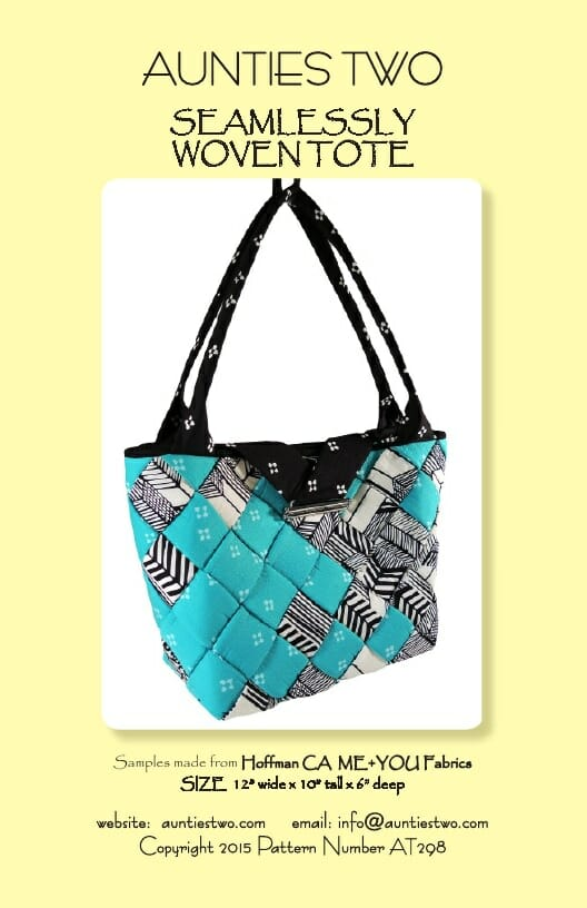 Aunties Two Patterns - Seamlessly Woven Tote