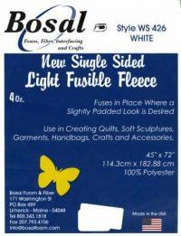 Bosal - Single-Sided Light Fusible Fleece - 2yd
