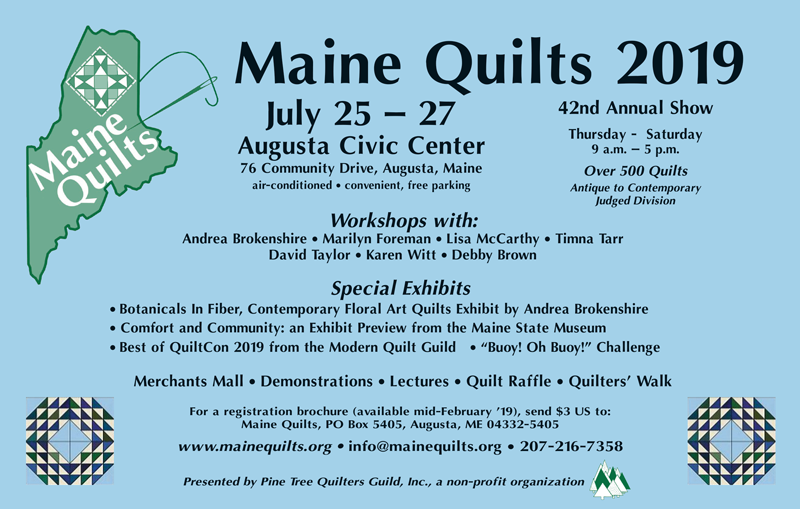 Maine Quilts - Augusta, ME (July 25 - 29) @ Augusta Civic Center | Augusta | Maine | United States