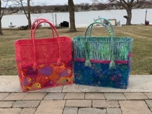 Look at this beautiful pair of Getaway Bags by Loraine & Nikki
