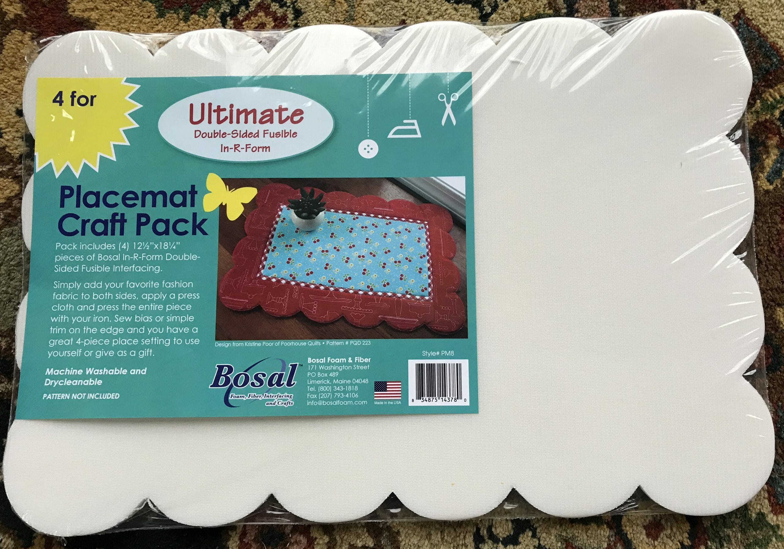 Scalloped In-R-Form Plus Placemat Craft Pack by Bosal – Pack-4/pkg