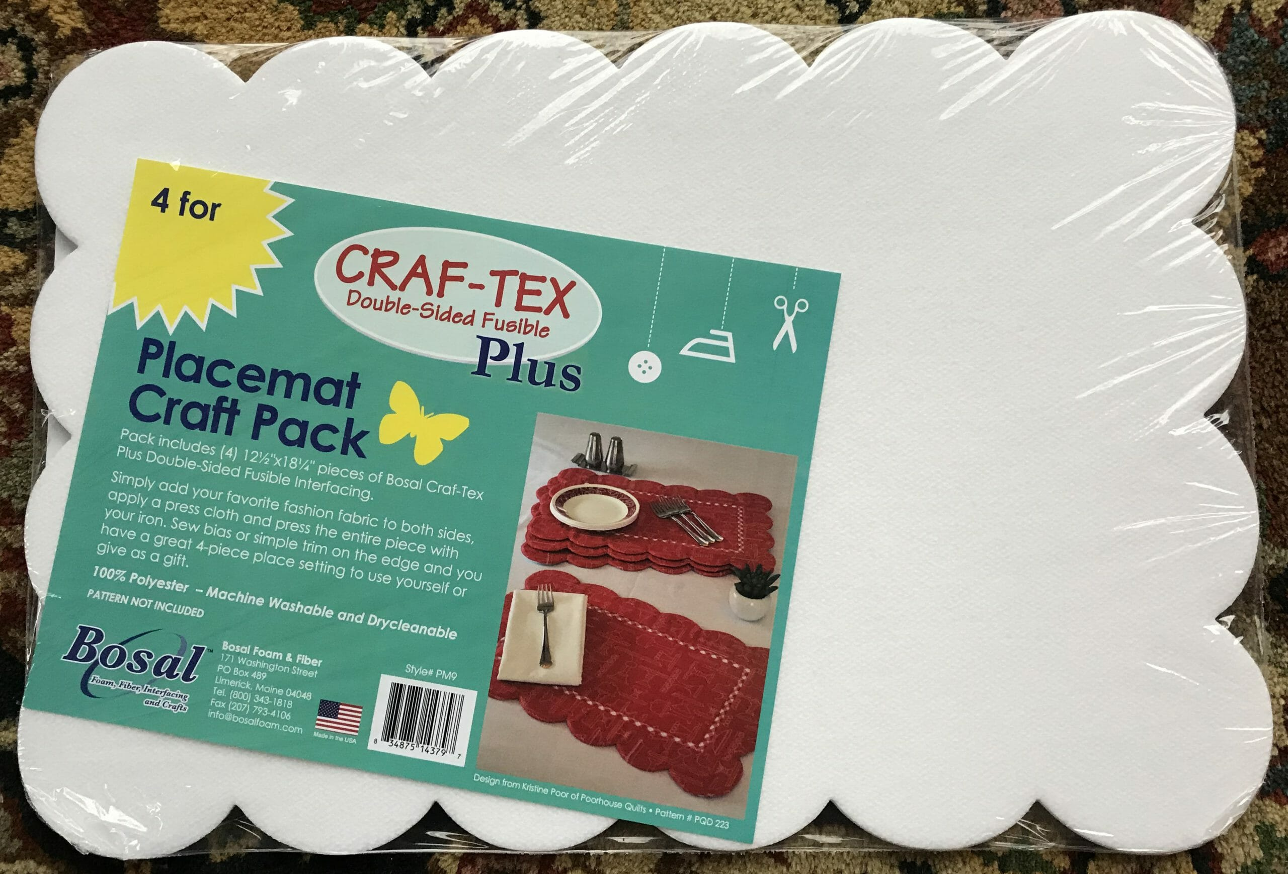 Scalloped Craf-tex Plus Placemat Craft Pack by Bosal – 4/pkg